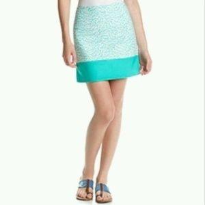 Michael Kors NWT Aqua Print stretch Skirt 14